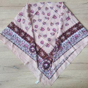 Cotton Floral Light Pink Scarf